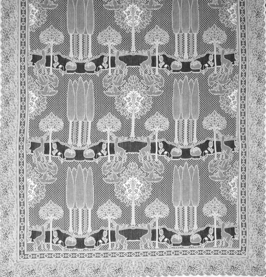 The Stag Lace Curtain Panel