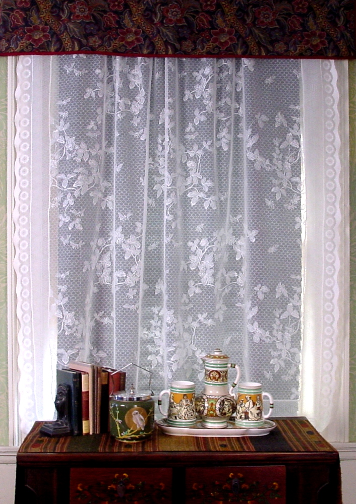 Honeybee Lace Curtains in Parlor Window