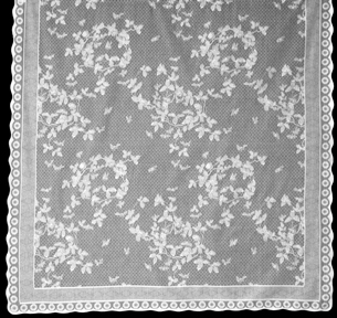 Honeybee Lace Curtain (in White)